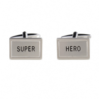 Dalaco 90-1567 Super Hero Rhodium Plated Cufflinks